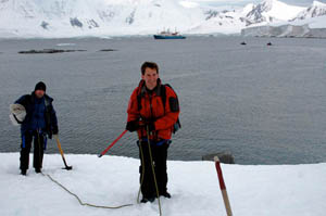 Roped up and exploring part of the Antarctic Peninsula