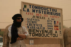 Welcome to Timbuktu on the edge of the Sahara Desert in Mali