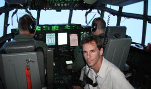 Aboard a USAF Reserve Hurricane Hunter flight into the eye of Hurricane Ike near Cuba