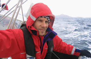 Sailing around Cape Horn at the southern tip of South America